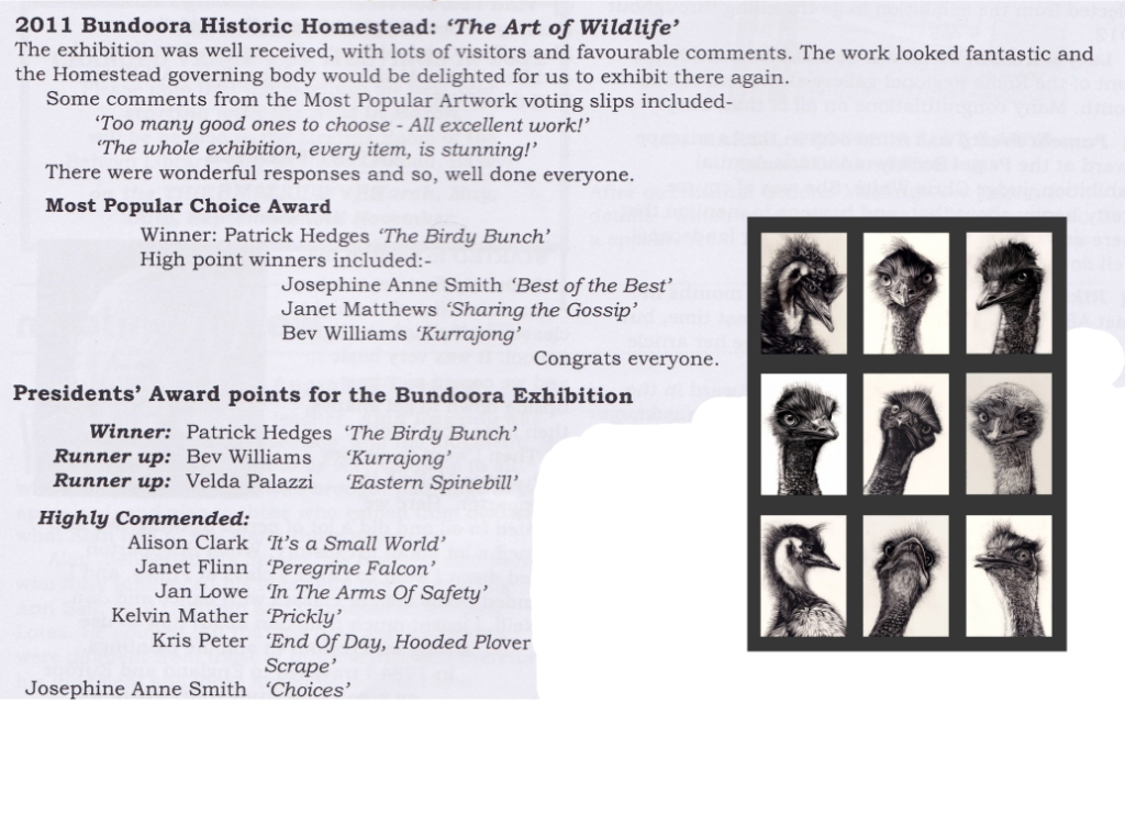 2011 Most Popular Piece at the Bundoora Art of Wildlife Show