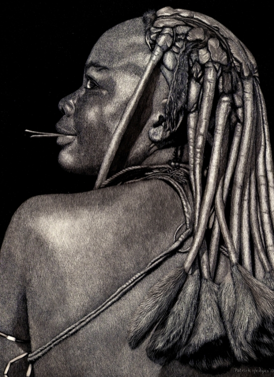 2014 Cardinia Scratchboard Show, Himba Maiden 2011