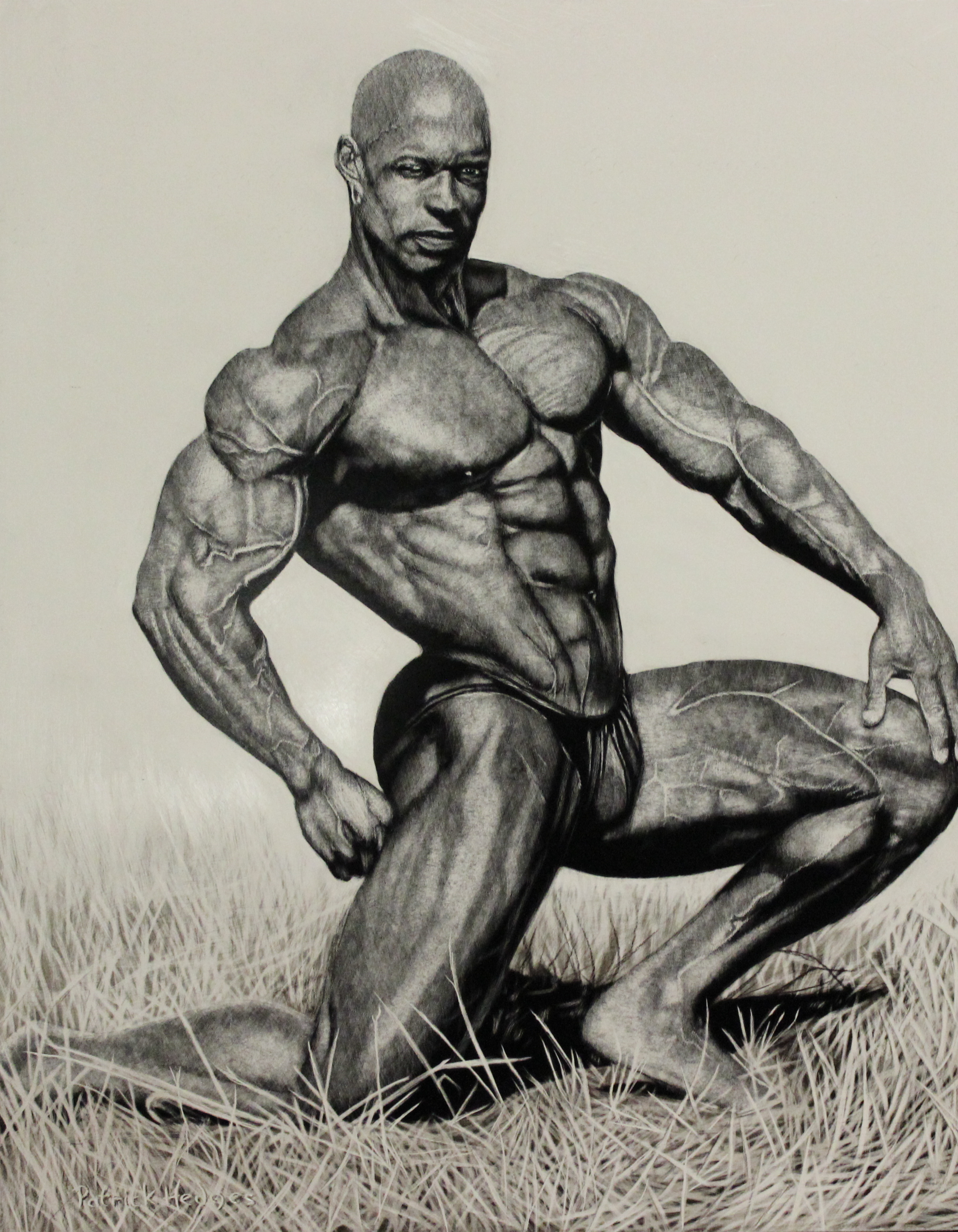 Realistic Muscle Body Painting
